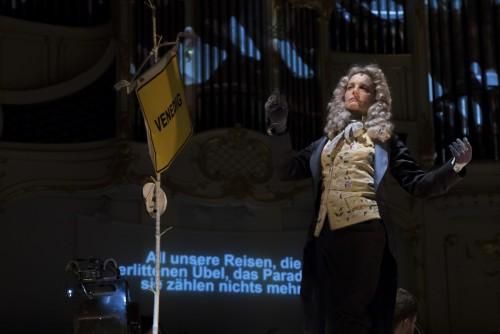 Isabel Karajan –Schauspielerin Candide, Eine komische Operette in zwei Akten, Realisierung: Klaus Ortner, Schauspielerin: Isabel Karajan, Foto: Elia Roman