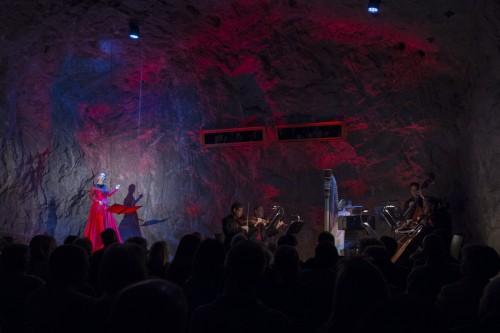 Isabel Karajan –Schauspielerin Die Maske des Roten Todes, Von Edgar Allan Poe, Regie: Klaus Ortner, Schauspielerin: Isabel Karajan, Foto: Elia Roman